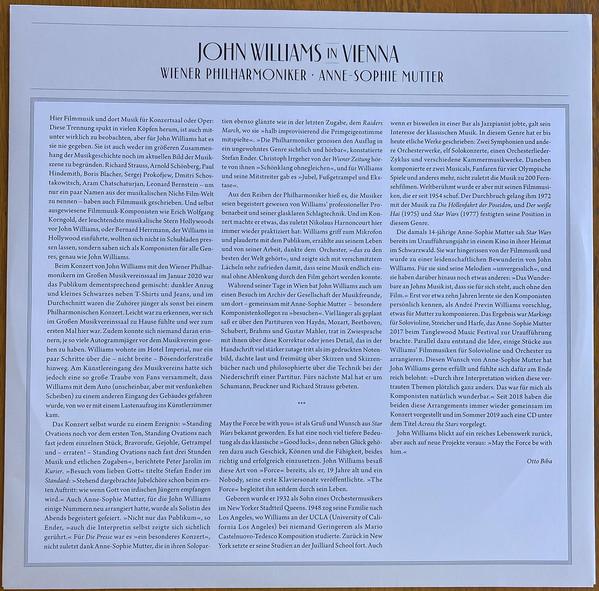 Виниловая пластинка John Williams — JOHN WILLIAMS IN VIENNA (2LP)