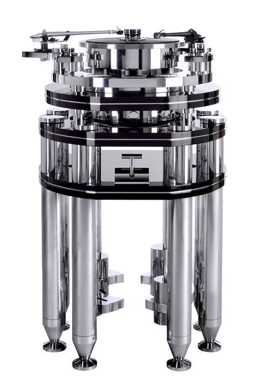 Стол винилового проигрывателя Transrotor ARTUS FMD с тремя моторами, подготовкой под тонарм 9 дюймов, Блоком питания Konstant FMD, рукояткой плавного запуска, стойкой и хромированным прижимным диском