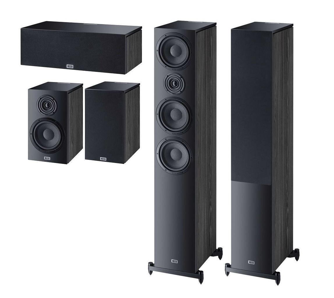 Комплект акустики Heco Aurora 700 Set 5.0 (700+300+Center) black