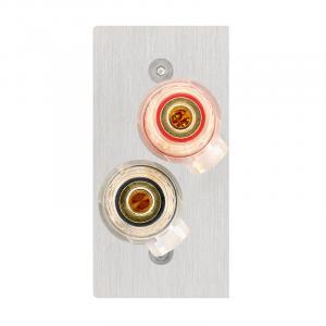 Панель клемная In-Akustik Premium Speaker Cable Terminal 56x28 banana/spade lug #00980105026