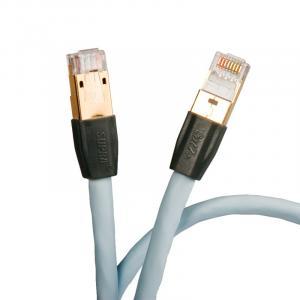 LAN кабель Supra CAT 8 STP Patch FRHF 8.0m (Ice Blue)