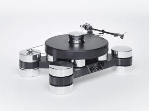 Виниловый проигрыватель Transrotor DARK STAR SILVER SHADOW с тонармом Rega RB 880, MC головкой Transrotor Merlo, Блоком питания Konstant EINS и прижимным диском