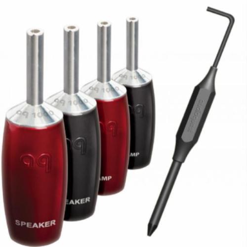 Комплект коннекторов AudioQuest SureGrip 1000 - BANANA Silver, 6 шт.