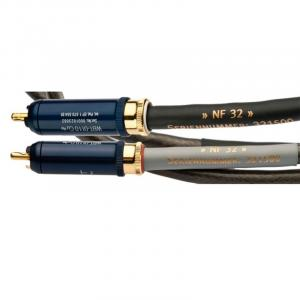Кабель межблочный аудио Silent Wire NF32 mk2, RCA, with ground-wire (phonostereocable) (2х1.0m)