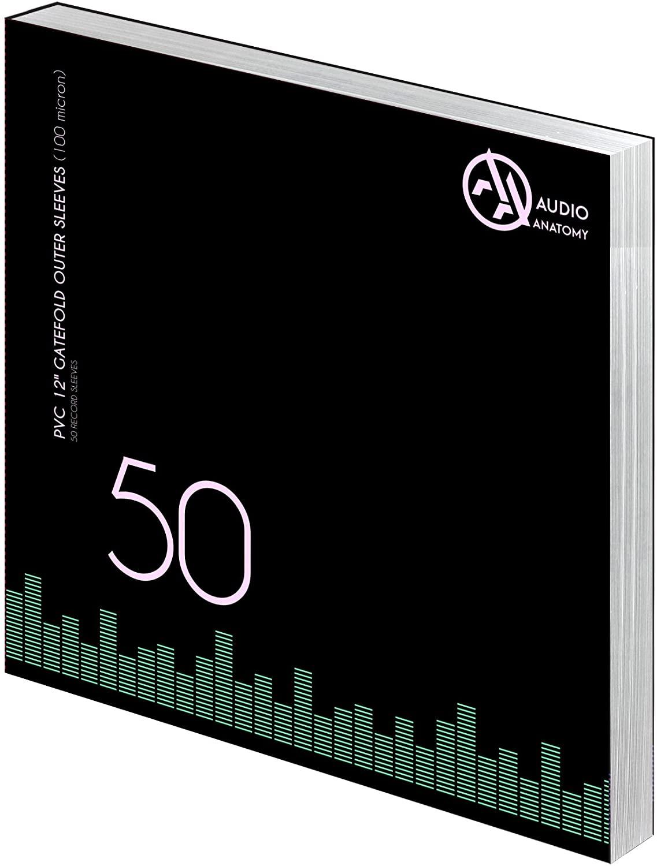 "Внешние конверты Audio Anatomy 50 X PVC 12"" GATEFOLD OUTER SLEEVES - 100 MICRON"