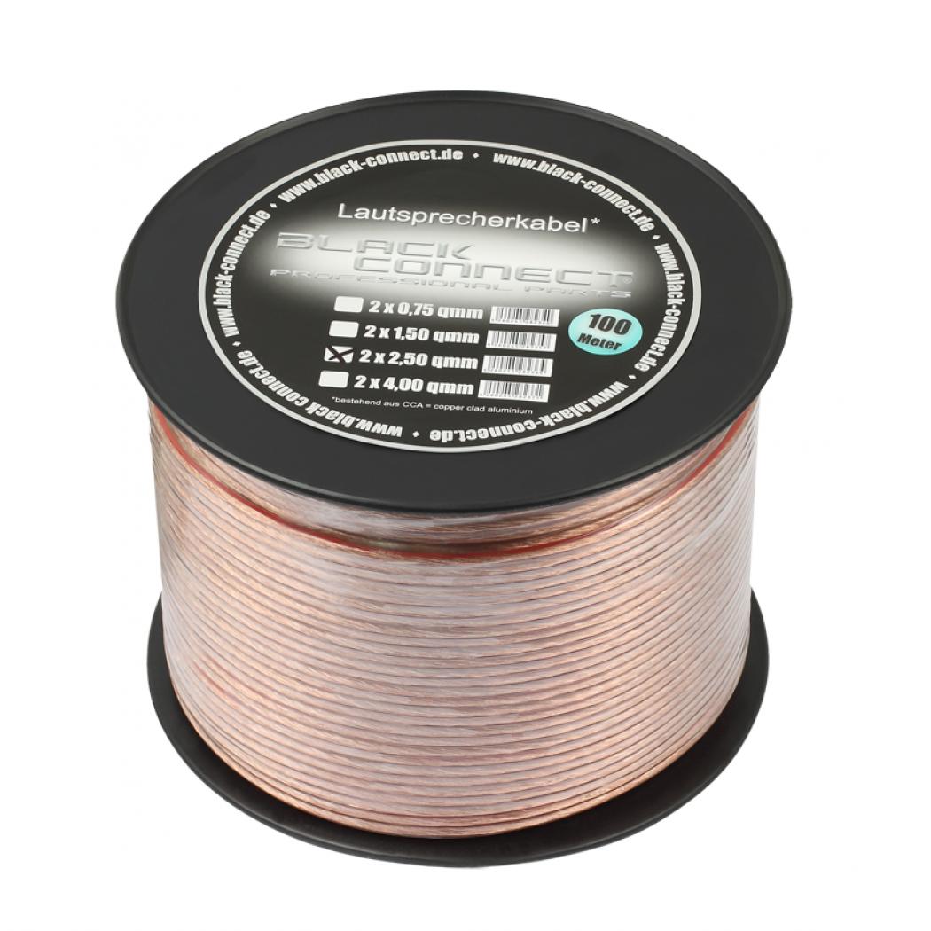 Акустический кабель Goldkabel Black Connect  CCA 2х2,5 100 м