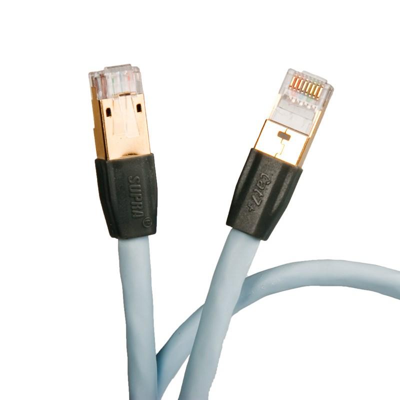 LAN кабель Supra CAT 8 STP Patch FRHF 2.0m (Ice Blue)