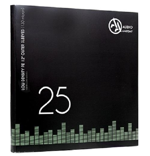 "Внешние конверты Audio Anatomy 25 X PVC 12"" OUTER SLEEVES - 100 MICRON"