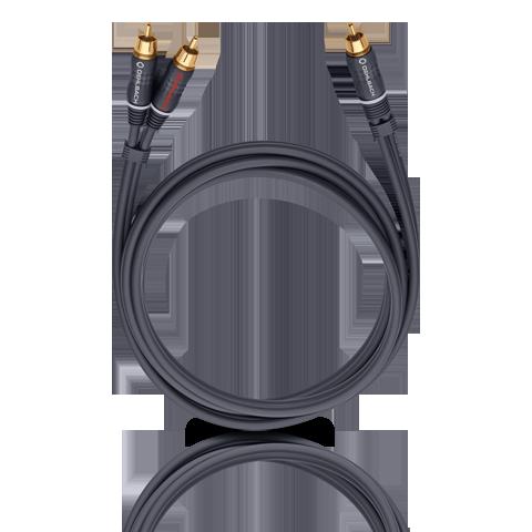 Кабель межблочный аудио Oehlbach BOOOM! Y-adapter cable anthracite 3,0 m (23703)