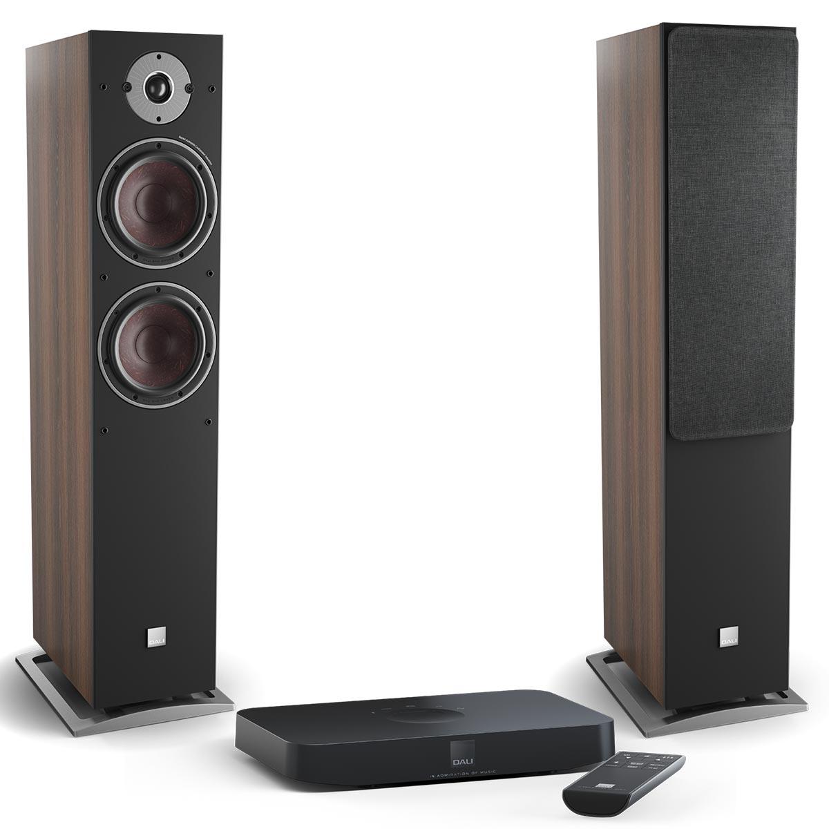 Комплект Dali Oberon 7 C Dark Walnut + Sound Hub Compact