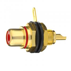 Разъем In-Akustik Premium RCA-Panel Jack red 1 pc #0090801002