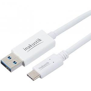 USB кабель In-Akustik White USB Type-C 3.1 SuperSpeed 0.75m (010423075)