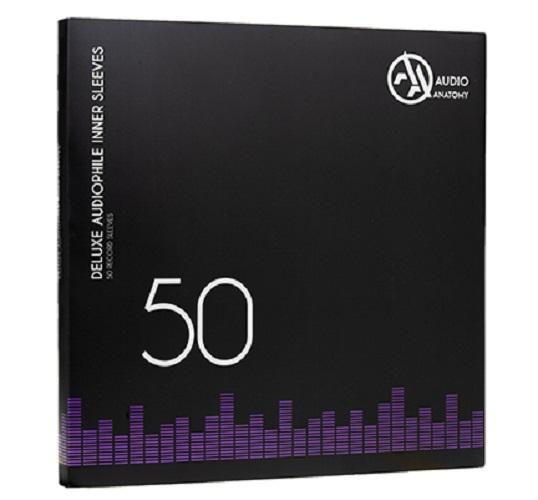 """Внутренние антистатические конверты Audio Anatomy 50 X 12"""" DELUXE AUDIOPHILE ANTISTATIC INNER SLEEVES WHITE"""