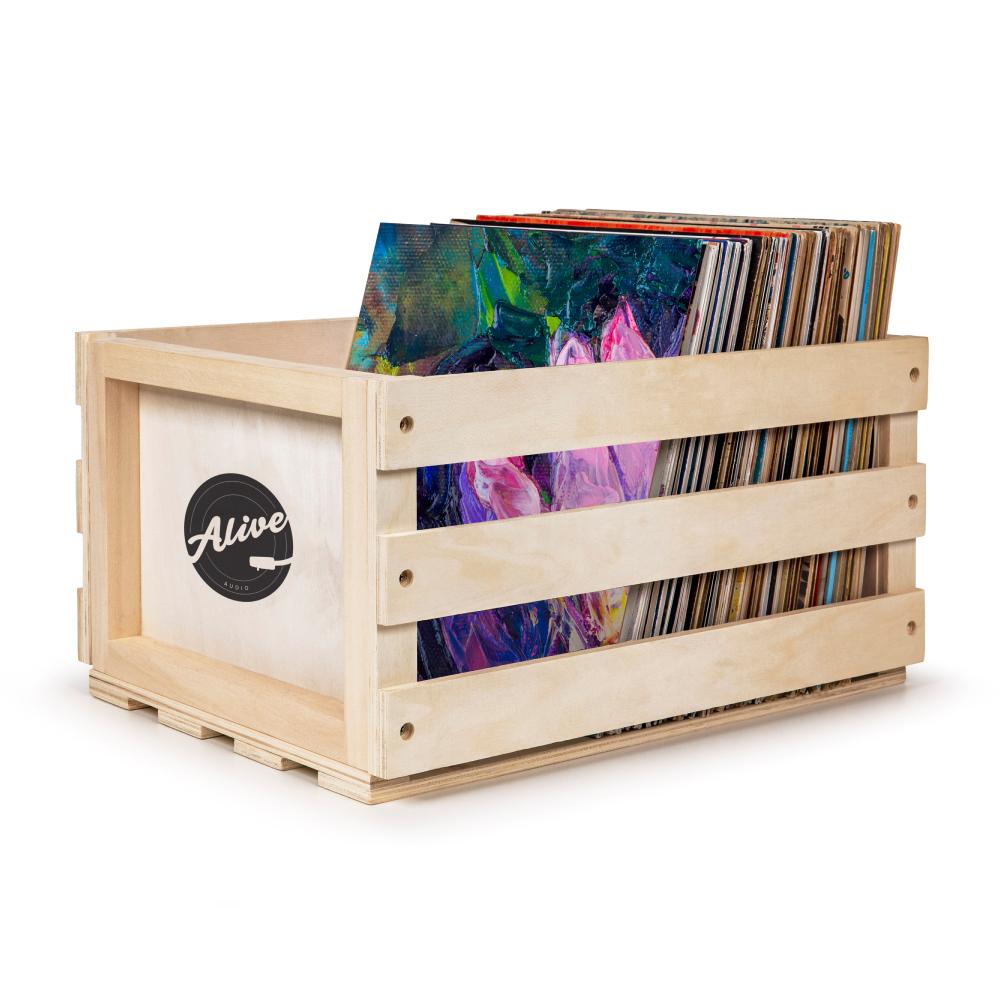 Ящик для 80 пластинок Alive Audio Nature Wood