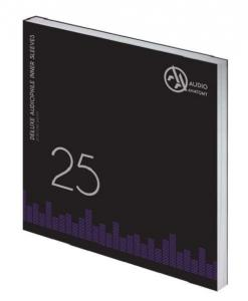"Внутренние антистатические конверты Audio Anatomy 25 X 12"" DELUXE AUDIOPHILE ANTISTATIC INNER SLEEVES CREME"