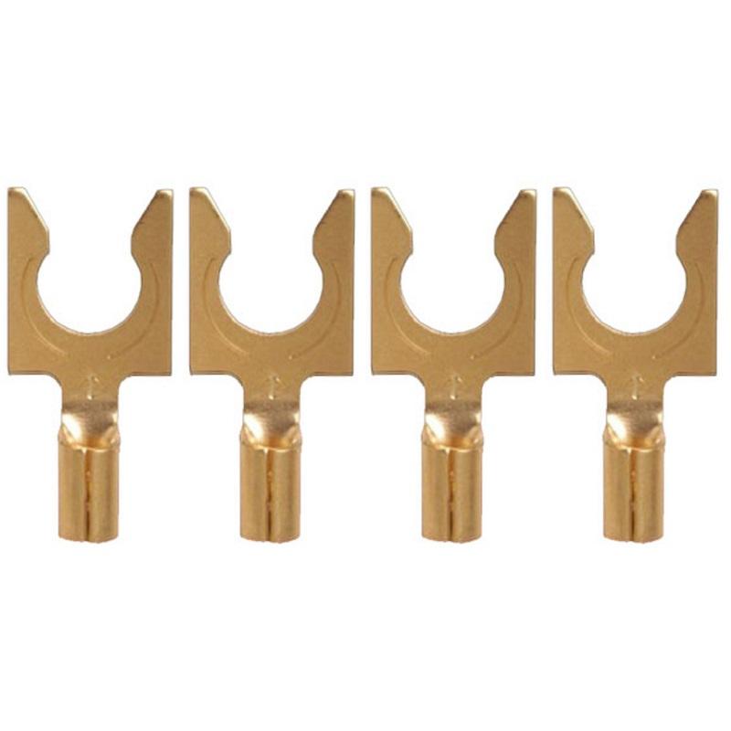 Комплект коннекторов AudioQuest 1014 Gold Crimp Spade, 40 шт
