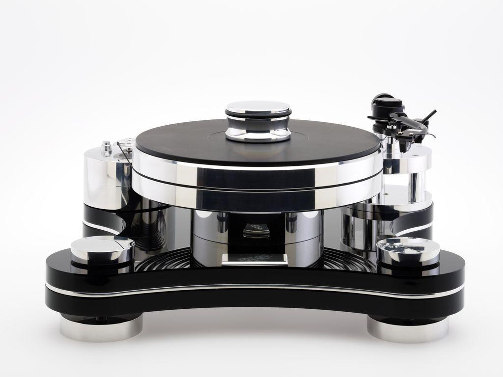 Виниловый проигрыватель Transrotor ZET 3 Black (Черный) с тонармом Rega RB 880, MC головкой Transrotor Merlo, Блоком питания Konstant M1 Reference и прижимным диском