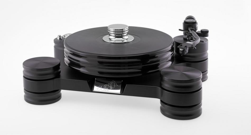 Стол винилового проигрывателя Transrotor DARK STAR с подготовкой под тонарм 9 дюймов, со стандартным блоком питания и прижимным диском
