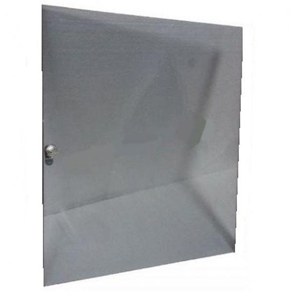 Стеклянная дверь AVC Link 12U, бронза 4мм, полир. кромка 528*481мм
