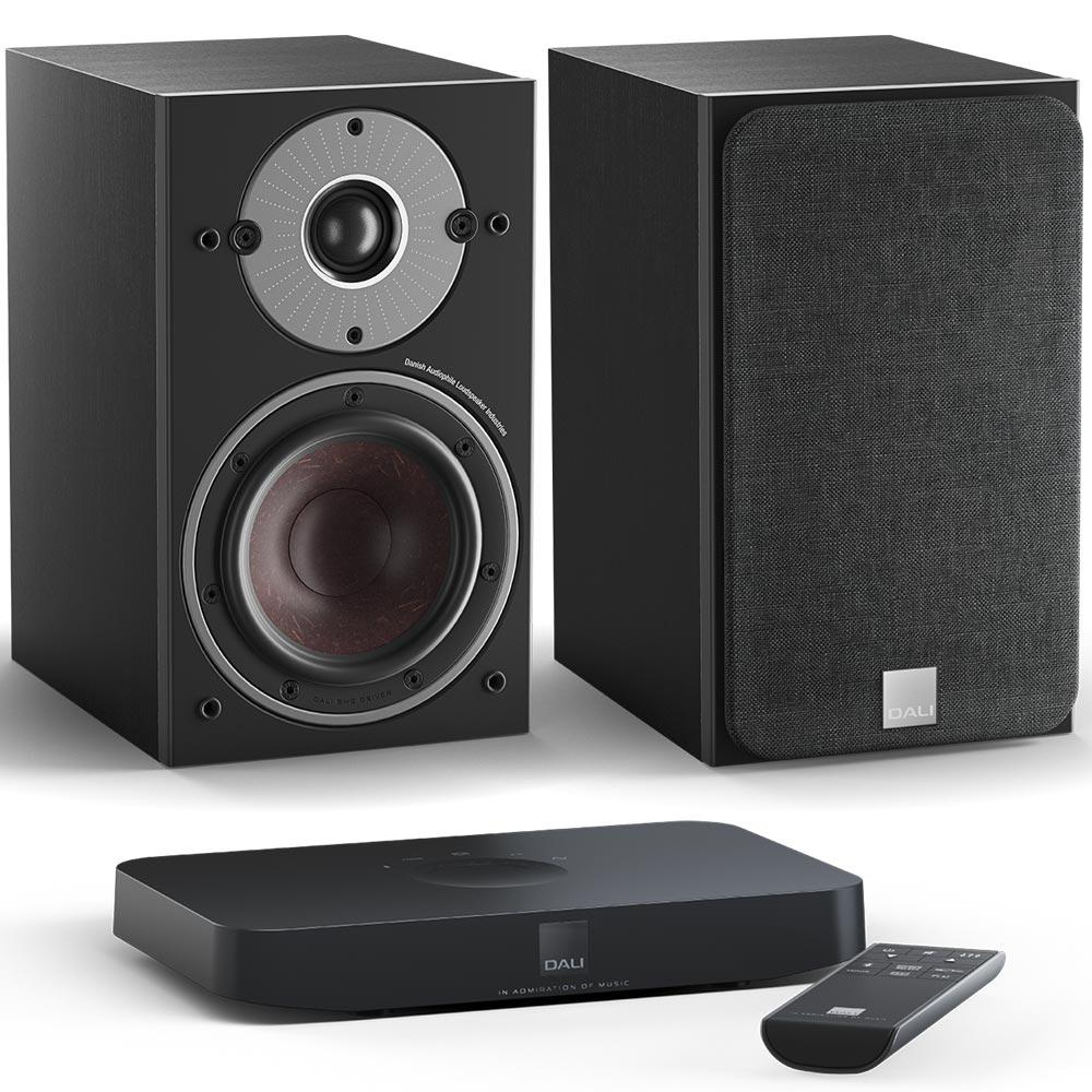 Комплект Dali Oberon 1 C Black Ash + Sound Hub Compact