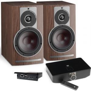 Полочная акустика Dali Rubicon 2 C walnut + DALI Sound Hub + BluOS Module