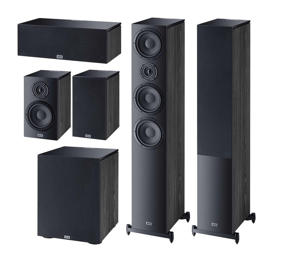 Комплект акустики Heco Aurora 700 Set 5.1 (700+300+Center+Sub) black