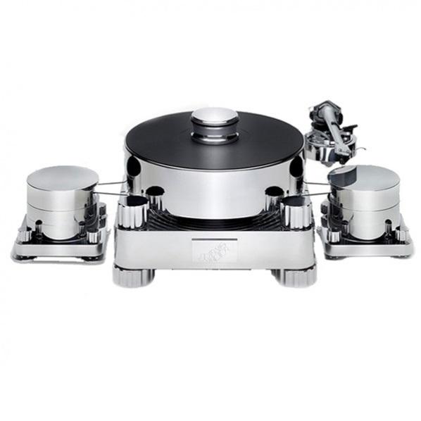 Стол винилового проигрывателя Transrotor Massimo TMD с подготовкой под тонарм 9 дюймов, Блоком питания Konstant FMD и хромированным прижимным диском