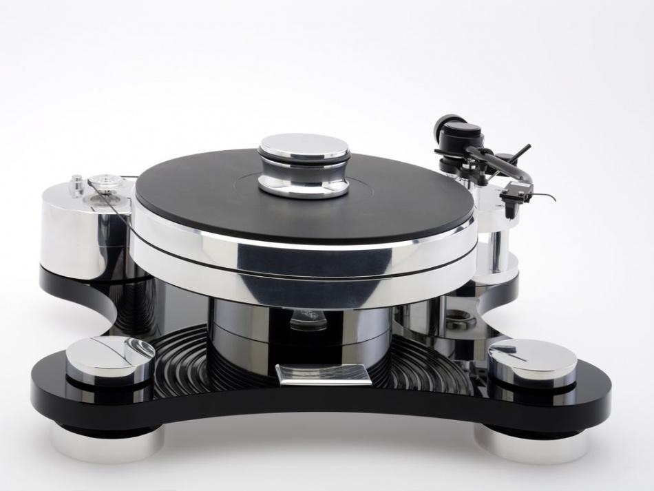 Виниловый проигрыватель Transrotor ZET 1 Black (Черный) с тонармом Rega RB 330, MM головкой Transrotor Uccello, стандартным блоком питания и прижимным диском