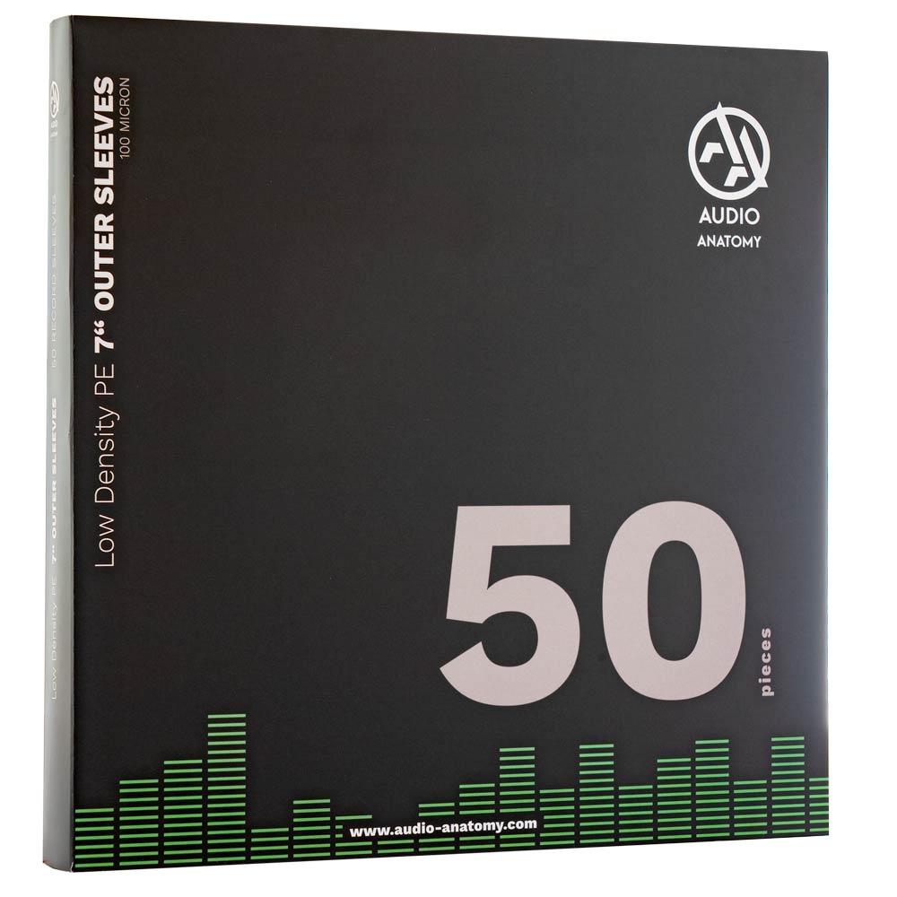 "Внешние конверты Audio Anatomy 50 X LOW DENSITY PE 7"" OUTER SLEEVES - 100 MICRON"