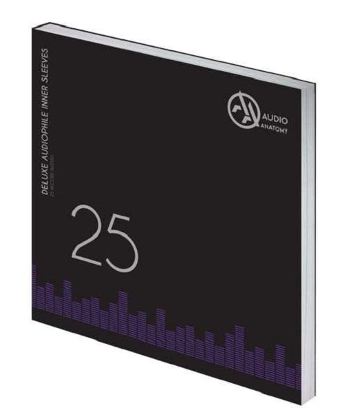 "Внутренние антистатические конверты Audio Anatomy 25 X 12"" DELUXE AUDIOPHILE ANTISTATIC INNER SLEEVES BLACK"