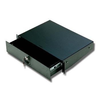 Выдвижной рэковый ящик EuroMet EU/R-CA3 04582 с замком, 3U, сталь черного цвета