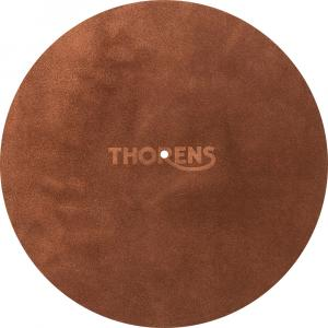 Слипмат Thorens Leather turntable mat brown