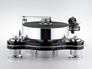 Стол винилового проигрывателя Transrotor RONDINO NERO FMD с подготовкой под тонарм Rega, Блоком питания Konstant FMD и алюминиевым прижимным диском