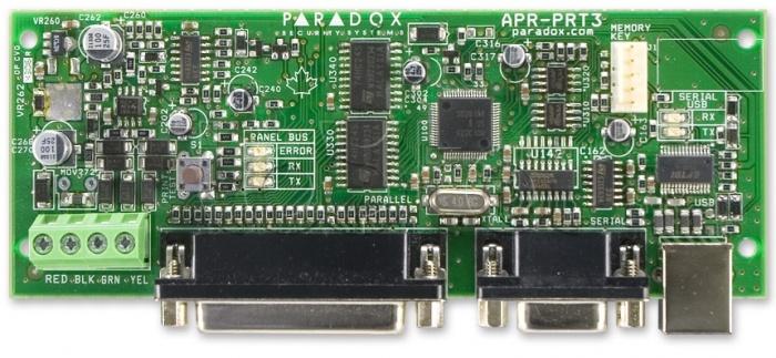 Модуль принтерный Paradox PRT3 c последовательным и параллельным портами