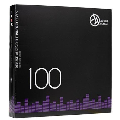 """Внутренние антистатические конверты Audio Anatomy 100 X 12"""" DELUXE AUDIOPHILE ANTISTATIC INNER SLEEVES WHITE"""