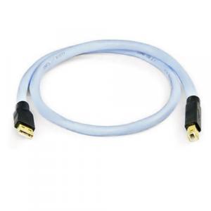 USB кабель Supra USB 2.0 A-B 0.7m (Ice Blue)