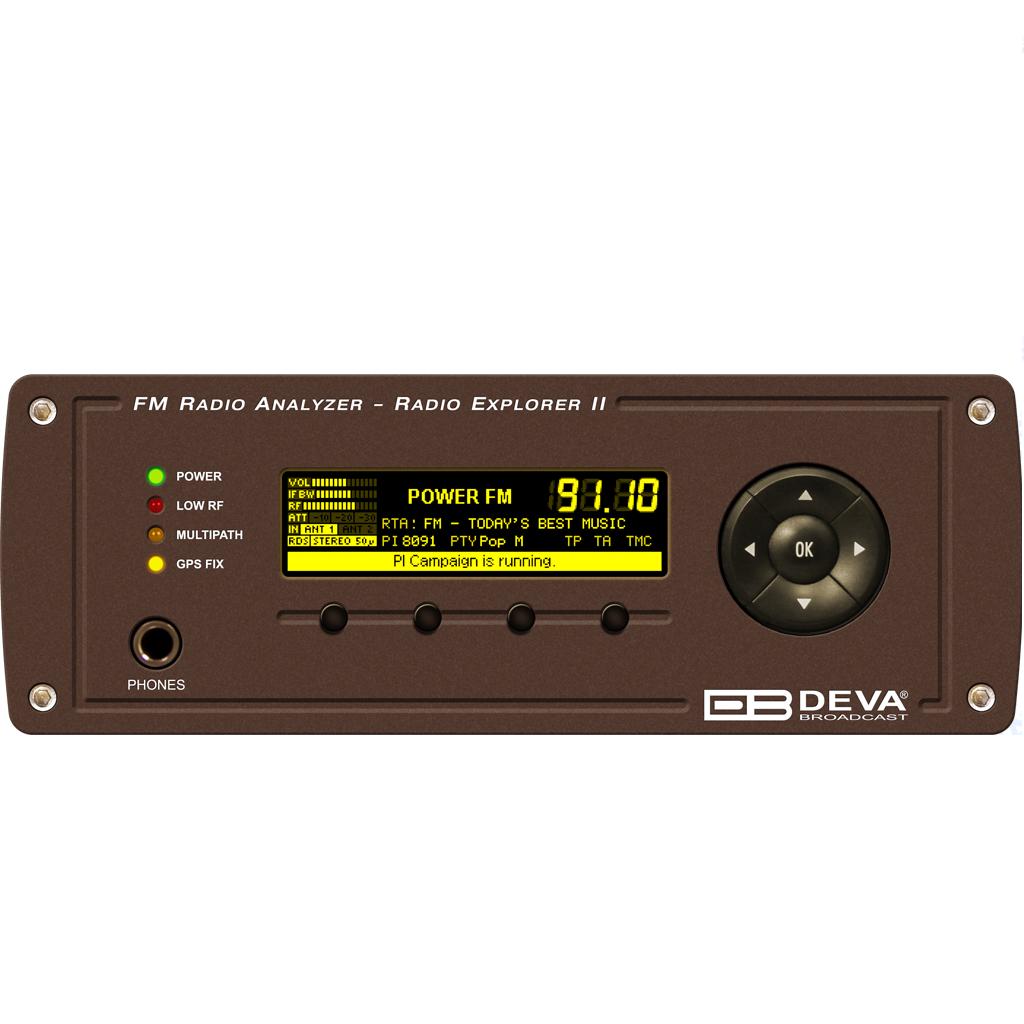 Мобильный измерительный прибор для мониторинга FM-сигнала DEVA Broadcast Radio Explorer-II