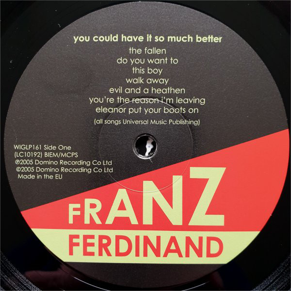 Виниловая пластинка Franz Ferdinand - You Could Have It So Much Better