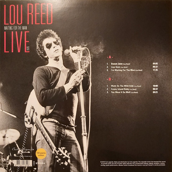 Виниловая пластинка Lou Reed - BEST OF WAITING FOR THE MAN LIVE